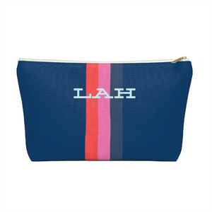 Personalized Solid Stripe Pouch