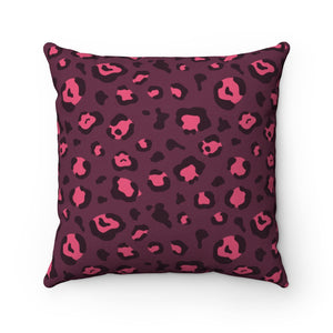 Holiday 2020 Plum Leopard Square Pillow