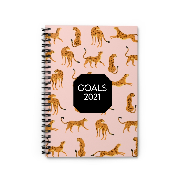 Personalized Cheetah Notebook