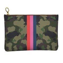Load image into Gallery viewer, Camo Personalized Leather Clutch