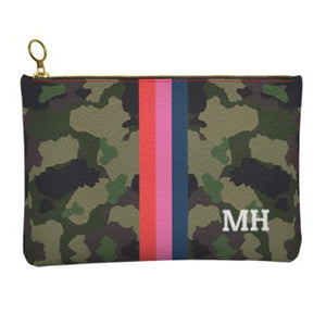 Camo Personalized Leather Clutch