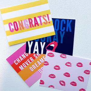 Congrats Collection  - Flat Notes + Envelopes