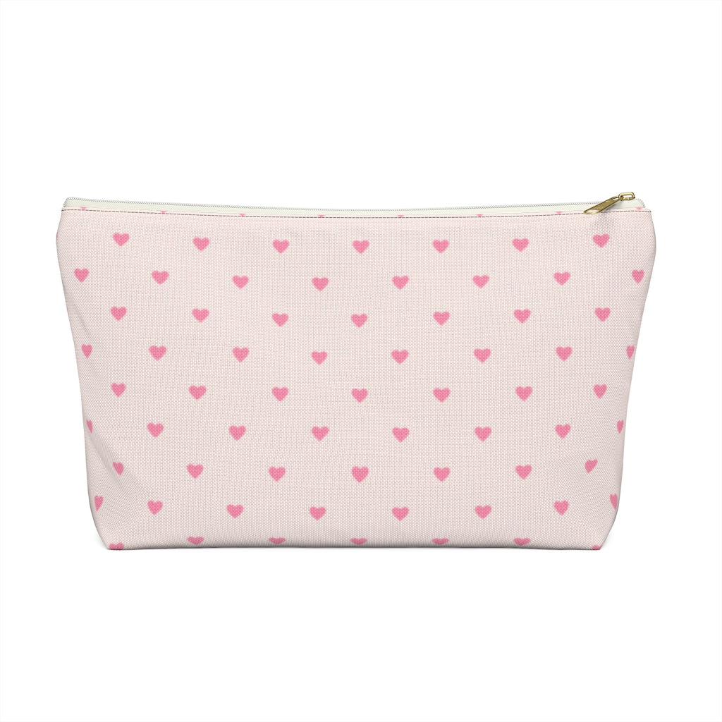 Blush Hearts Personalized Pouch