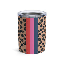 Load image into Gallery viewer, Personalized Leopard Solid Stripe Tumbler
