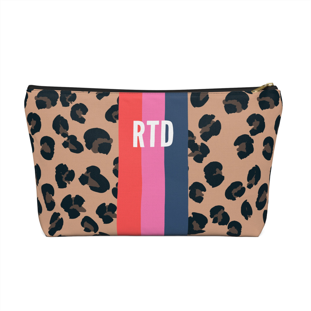 Personalized Striped Pouch