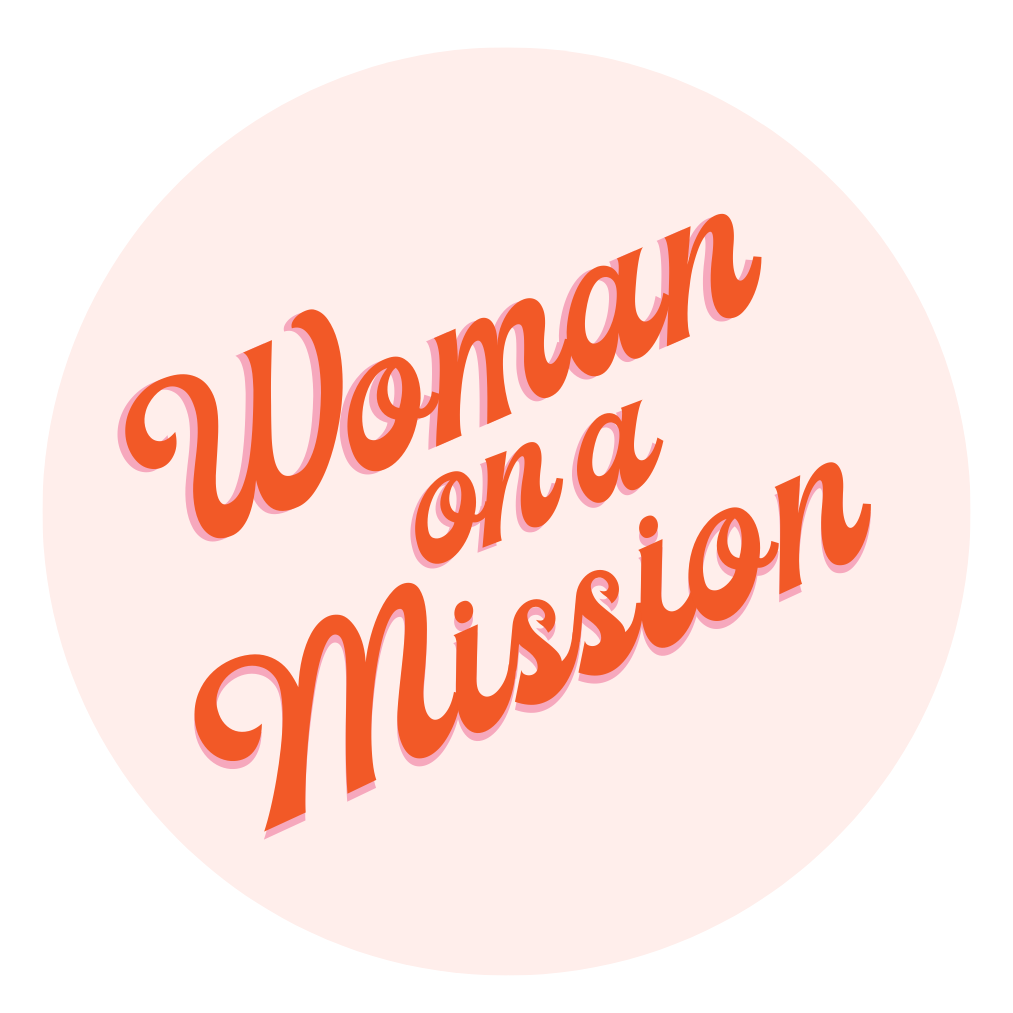 Woman on a Mission Round Stickers