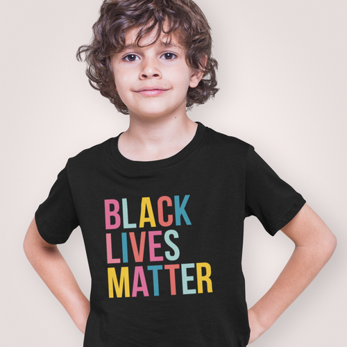 Rainbow Black Lives Matter Kids Tee
