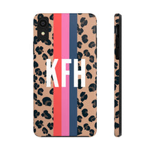 Load image into Gallery viewer, Personalized Leopard Stripe Phone Case