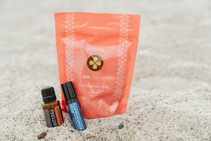 Wellness package with throat drops and essential oils