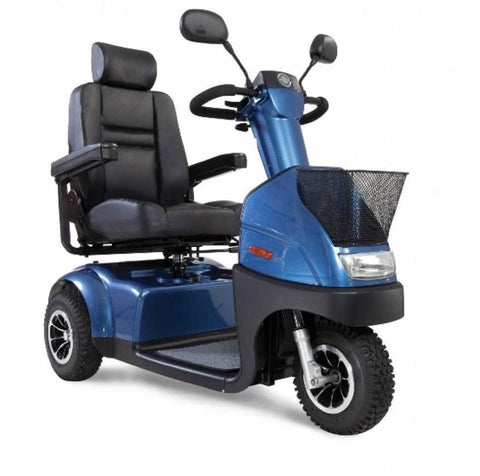 Afikim: Afiscooter C 3-Wheel Comfy Mobility Scooter diagonal view