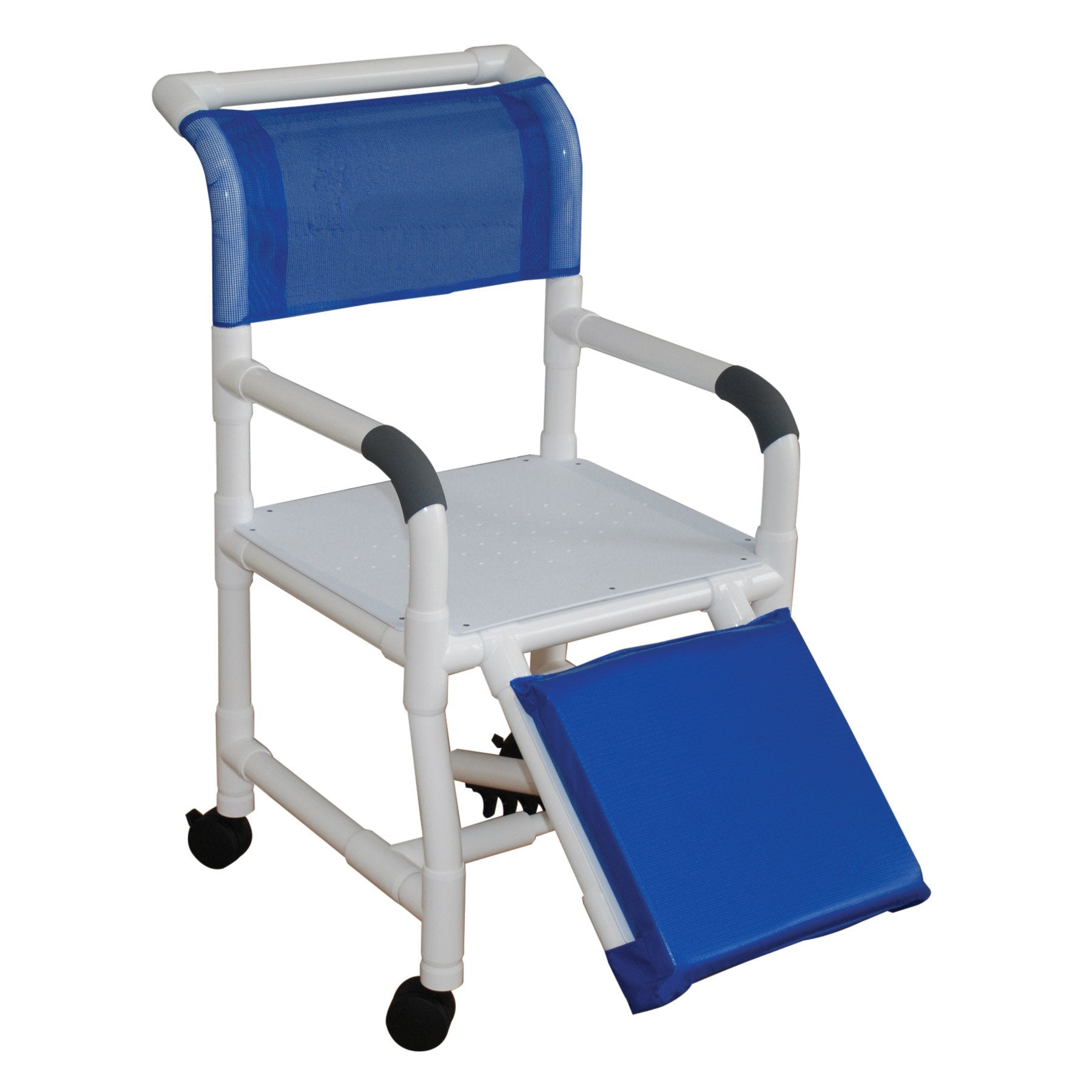 MJM International: Shower Chair With Flat Stock Seat For Uni-Lateral Or Bi-Lateral Below Knee Amputee - 118-3-AF