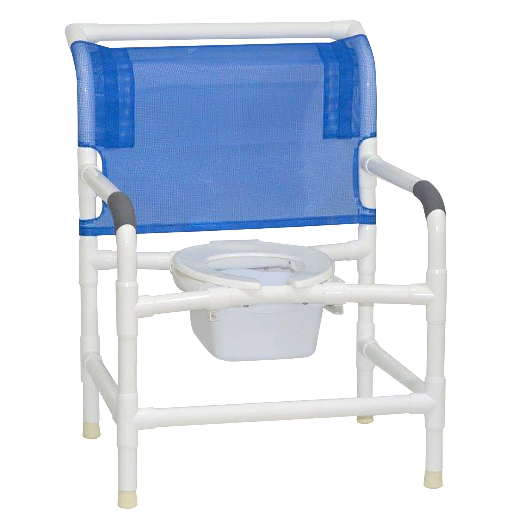 MJM International: Wide Shower Commode Seat With Square Pail - 126-LP-NB