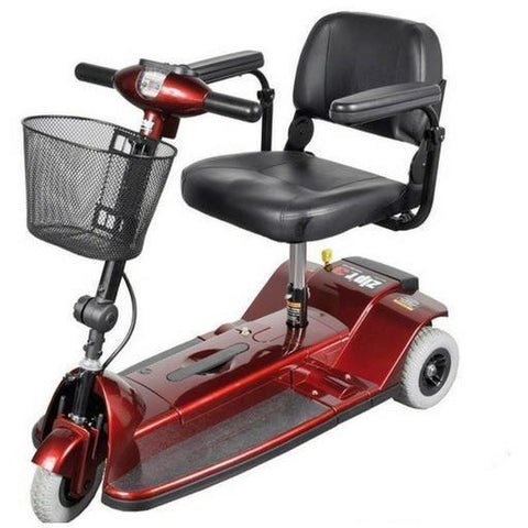 Zip'r 3-Wheel Xtra Traveler Mobility Scooter in red