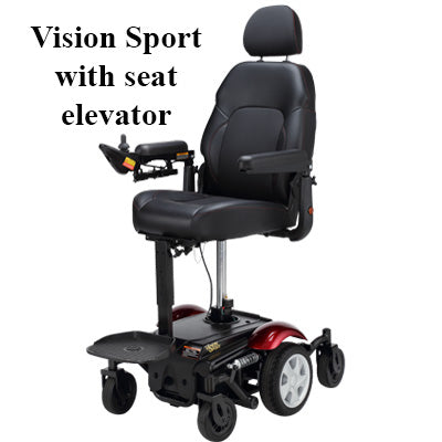Merits: Vision Sport P326D With Power Elevating Seat Option in action