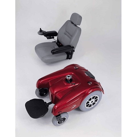 Portable Merits Health Gemini Power Chair in two pieces