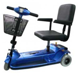 Zip'r 3-Wheel Xtra Traveler Mobility Scooter in blue