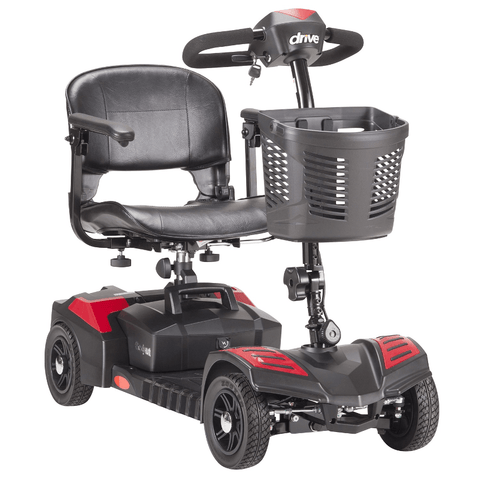 Drive Medical: (Spitfire) Scout EX Compact Travel Power Scooter, 4 Wheel, Extended Battery - SFSCOUT4-EXT