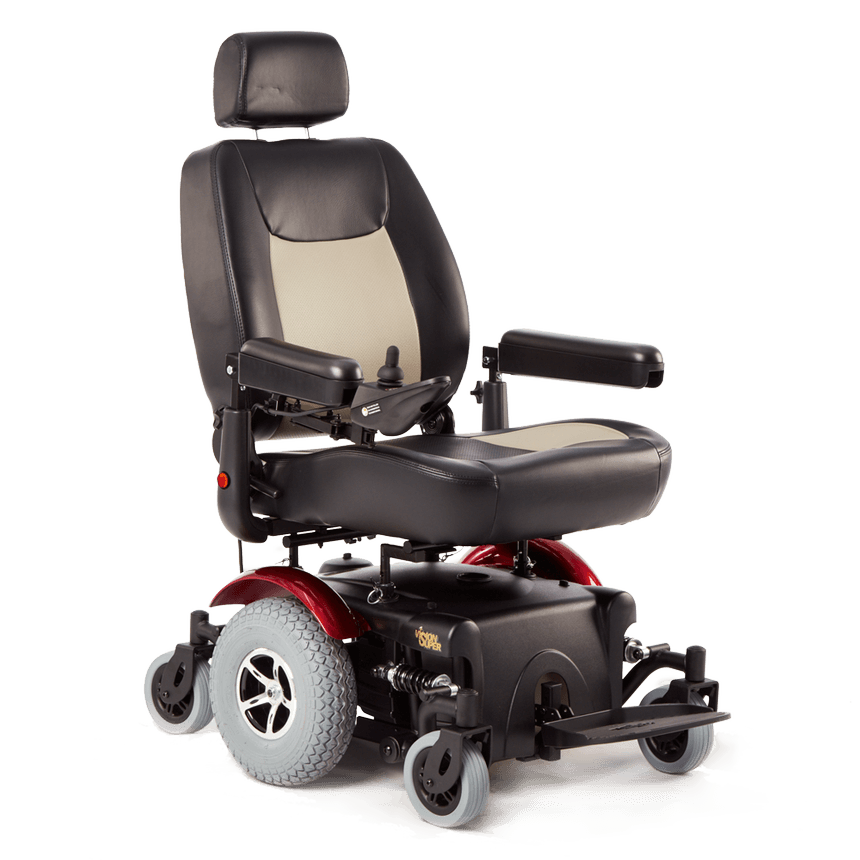 Lowered seat position on Merits: Vision Super Heavy Duty Power Chair - P327/P3274