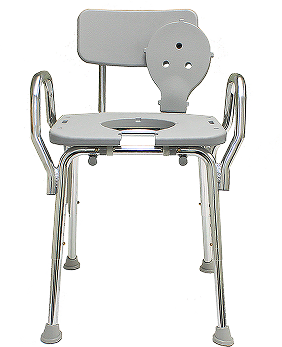 Eagle Health: Shower Chair W/Cut-Out, W/Back & Arms - 72331