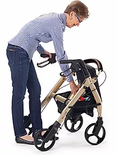 Convenient under seat   storage bag  of comodita  Piccola walker Rollator