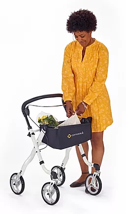 Removable, washable nylon bag to transport  personal items  of Comodita Avanti Walker Rollator