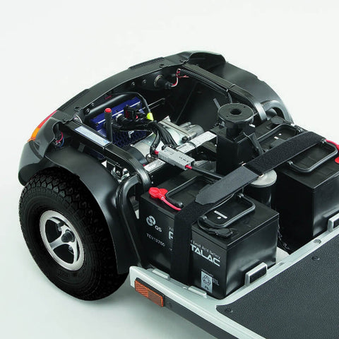 Wheelchair battery compartment