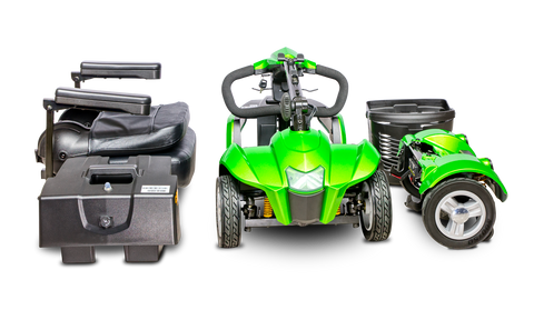 Disassembled parts of CityCruzer scooter