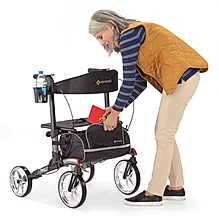 Convenient shopping bag of comodita Tipo petite walker Rollator