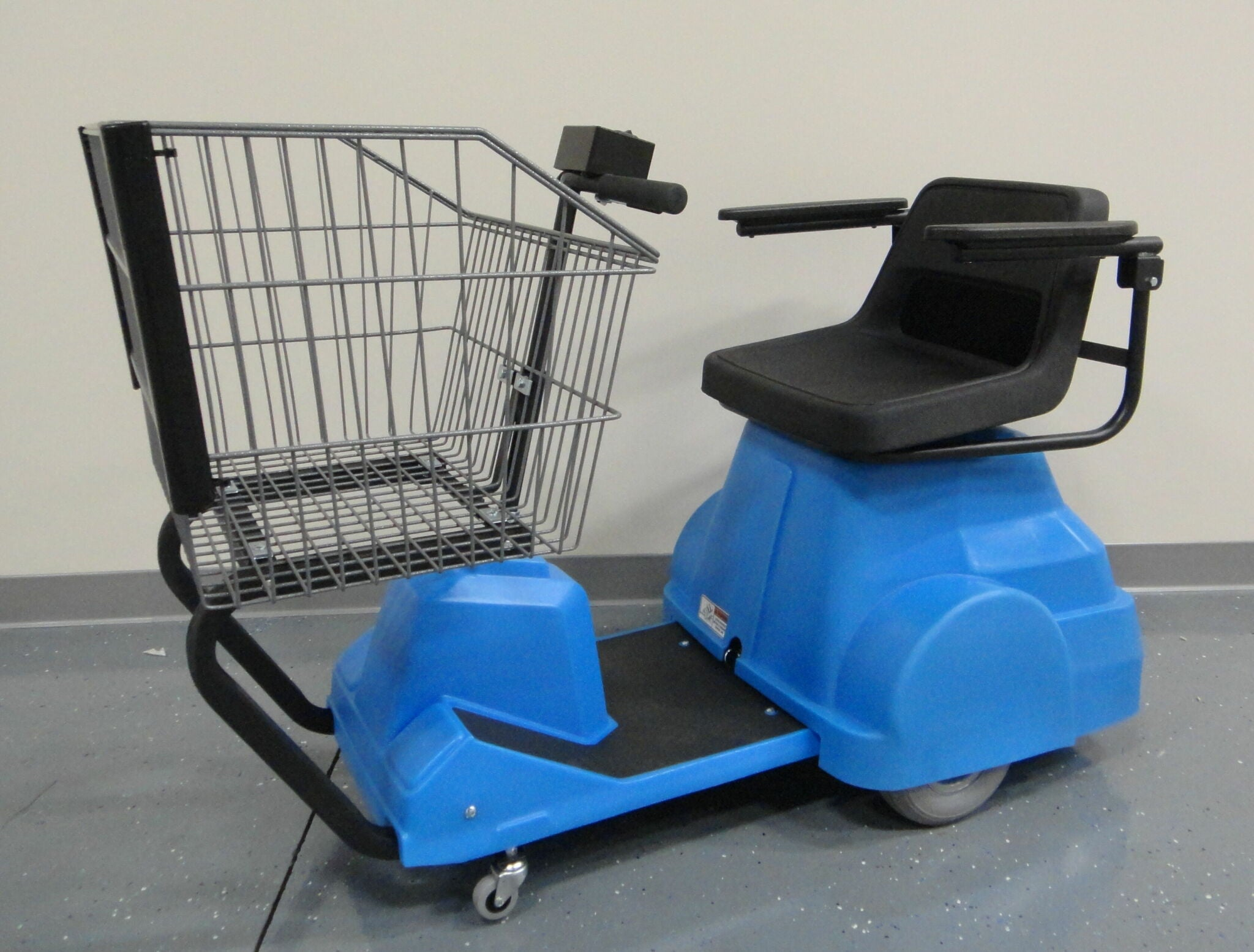 EK Tech: EZ-Shopper 8000 Blue Electric Shopping Cart