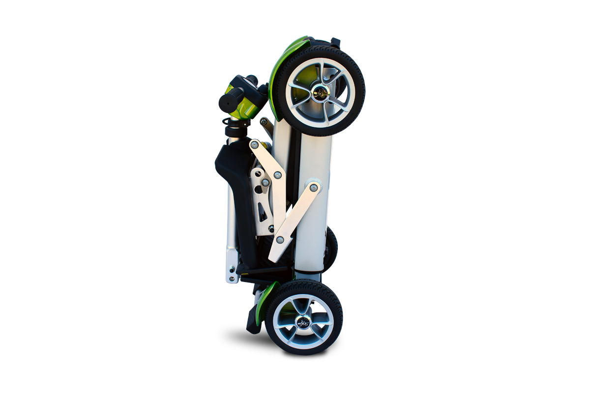 Travel scooter in folded state