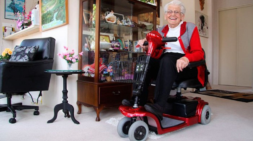 Mobility scooter taking up space inside home