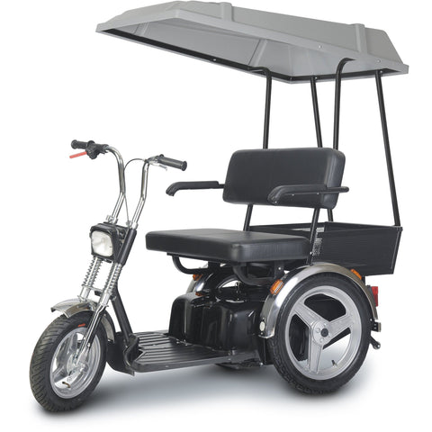 Afikim SE Dual Seat Bench Scooter for 2 with canopy