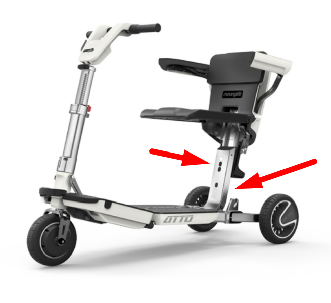Folding scooter with alternative to scissor support