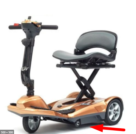 Low ground clearance travel mobility scooter