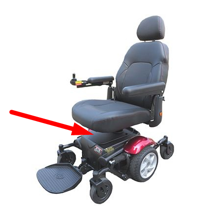 Gap on elevating seat power chair even lowest setting meaning seat to floor minimum is higher than average