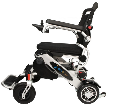 Geocruiser (Pathway Mobility): Geo Cruiser DX Lightweight Foldable Power Chair (Silver) - 216S01