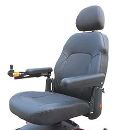 Electric wheelchair headrests, seat back and armrest comfort