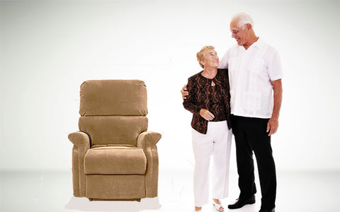 comfortable seat elderly couple