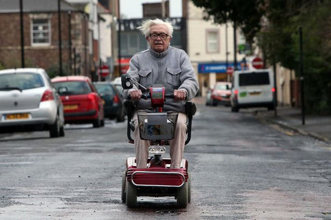 driving a mobility scooter on the road