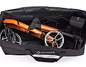 Practical travel bag   for transportation of comodita Tipo petite walker Rollator