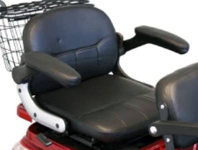 Rear, more comfortable seat of EW-66 Two-Seat Mobility Scooter
