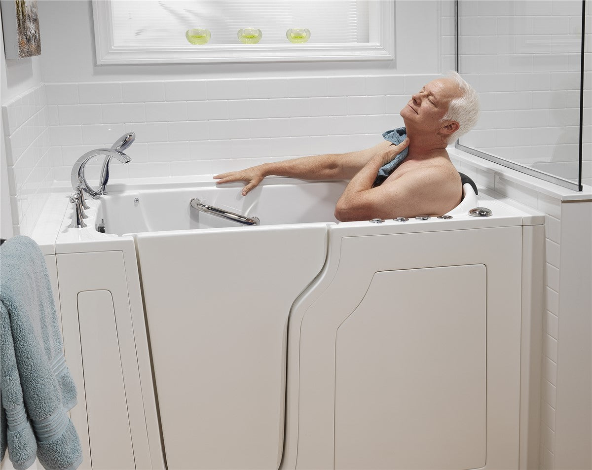 Relaxing & safe bathroom experience for senior