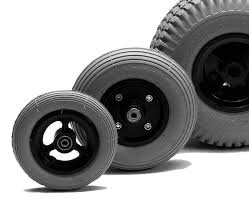 Tires and wheels of mobility scooters