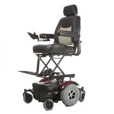 Merits: Vision Super Heavy Duty Power Chair - P327/P3274 in elevated seat position