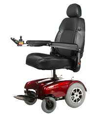 Elevated seat in action on Merits: Gemini - MER1-10 power wheelchair