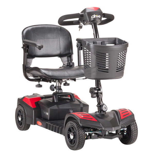 drive medical scout compact travel power scooter 4 wheel