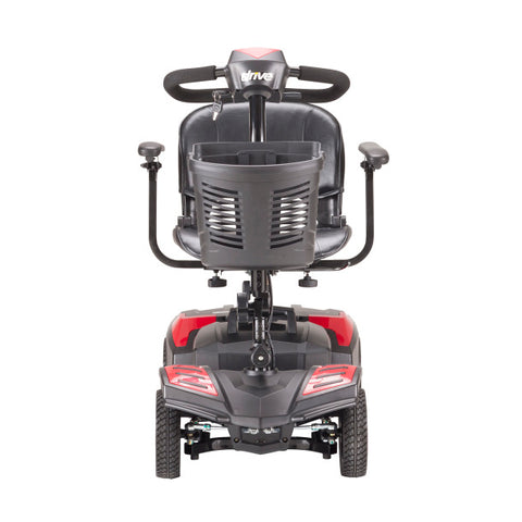 compact travel power scooter with 4 wheels by drive medical