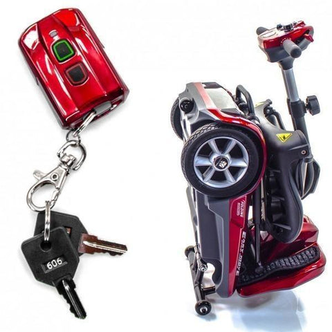 Transport AF remote automatic folding key fob & suitcase shape to roll along