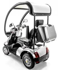 Afikim: Afiscooter S 4-Wheel Luxurious Mobility Scooter rear view