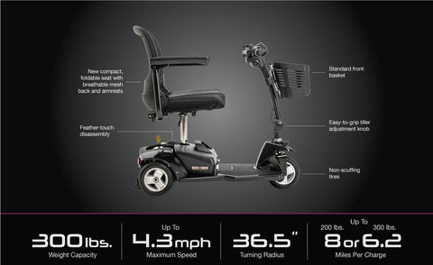 Pride Go-Go® Ultra X 3-Wheel Mobility Scooter
